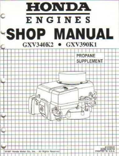 Honda GXV340 Engine Shop Manual