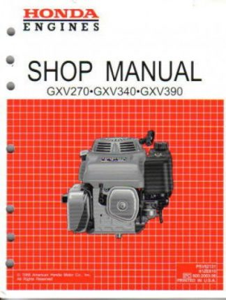 Official Honda GXV270 Engine Shop Manual