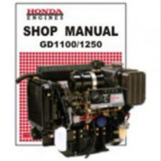 Official Honda GD1100 And GD1250 Engine Shop Manual