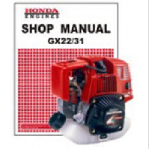 honda gx22 and gx31 engine shop manual honda gx22 repair manual honda gx22 workshop manual