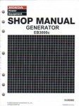 Official Honda EB3000c Generator Shop Manual