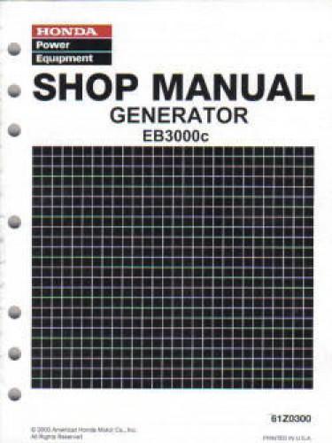 Honda EB3000c Generator Shop Manual