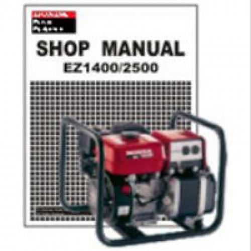 Honda EZ1400 And EZ2500 Generator Shop Manual 1