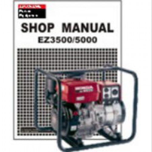 honda ez3500 and ez5000 generator shop manual rh repairmanual com eb 6500 honda generator manual honda eb6500 generator manual