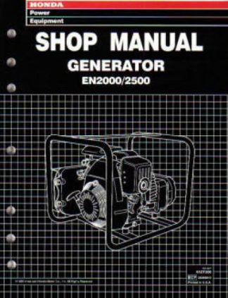 Official Honda EN2000 And EN2500 Generator Shop Manual