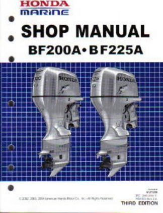 Official Honda BF200A 225A Marine Shop Manual