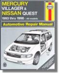 Haynes Mercury Villager Nissan Quest 1993-2001 Auto Repair Manual