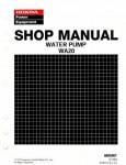 Official Honda WA20 Water Pump Shop Manual