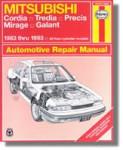 Haynes Mitsubishi Cordia Tredia Galant Precis Mirage 1983-1993 Auto Repair Manual