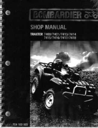Official 2000 Bombardier Traxter + XT Factory Service Manual
