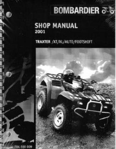 2001 Bombardier Traxter Xt Xl Atv Service Manual