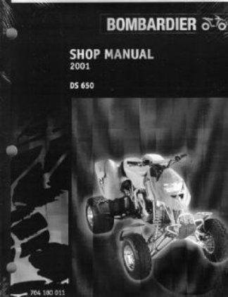 Official 2001 Bombardier DS 650 Factory Service Manual