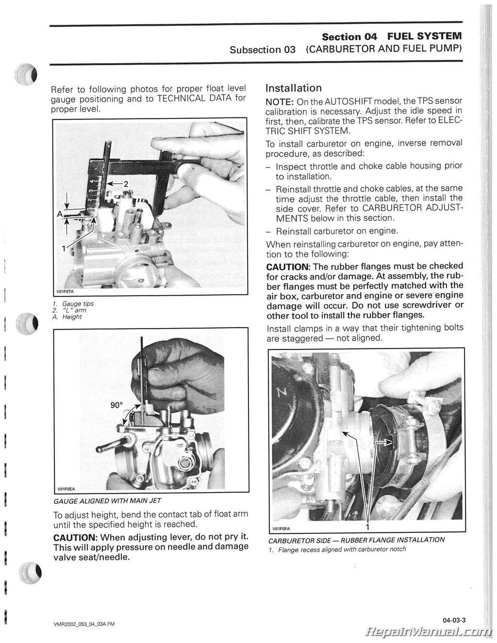 Bombardier j5 service Manual