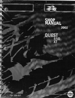Official 2002 Bombardier Quest Factory Service Manual