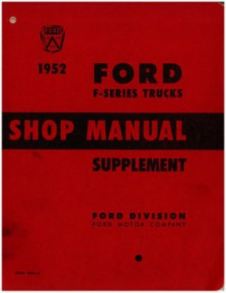 Used 1952 Ford F-Series Truck Shop Manual Supplement