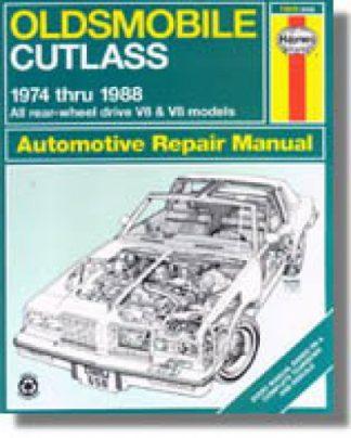 Oldsmobile Cutlass Auto Repair Manual 1974-1988 Haynes Used