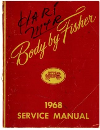 1968 Fisher Body GM Service Manual