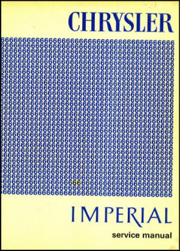 Chrysler and Imperial Service Manual 1966 Used