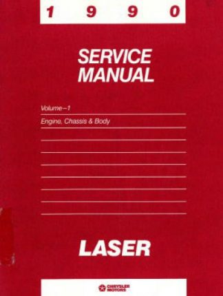 Plymouth Laser Service Manual 1990