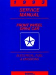 Front Wheel Drive Car Electrical Fuel and Emissions Service Manual 1993