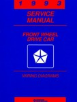 Front Wheel Drive Car Wiring Diagrams Service Manual 1993 Used