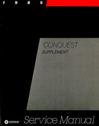 Chrysler Conquest Service Manual Supplement 1985 Used