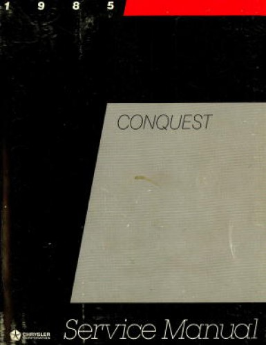 Chrysler Conquest Service Manual 1985 Used