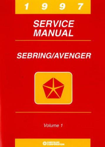 used chrysler sebring and dodge avenger service manual 1997 rh repairmanual com 1997 Dodge Avenger Engine Parts 1997 Dodge Avenger Engine Parts