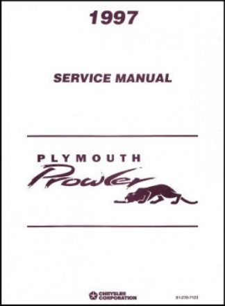 Used 1997 Plymouth Prowler Service Manual