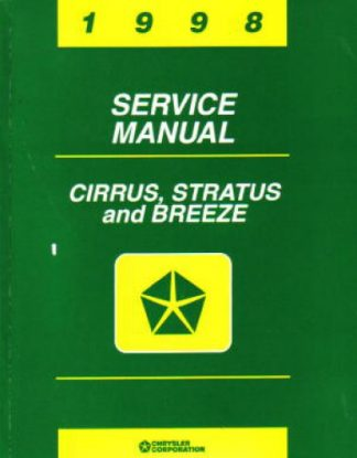 Chrysler Cirrus Stratus and Breeze Service Manual 1998
