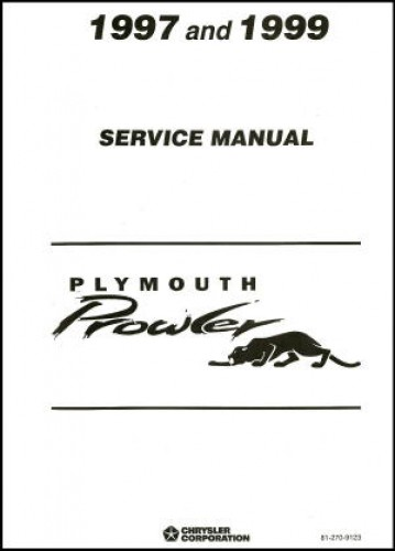 Used 1997-1999 Plymouth Prowler Service Manual