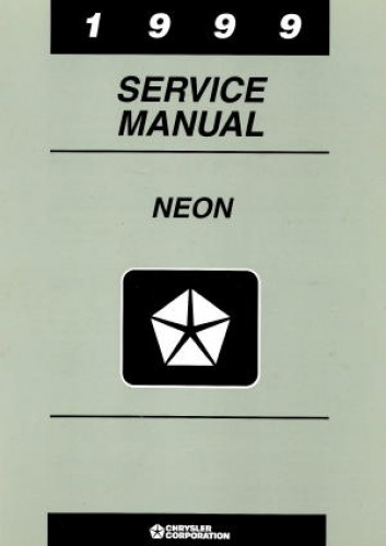 Dodge Neon Service Manual 1999