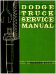 1960 Dodge Truck Service Manual P Series Used