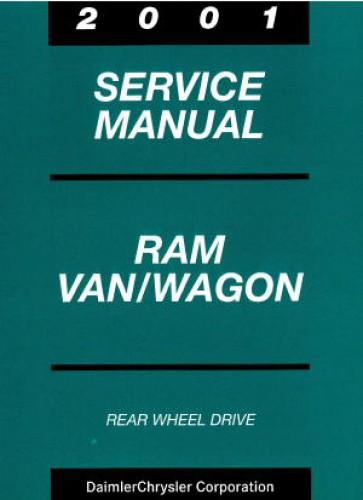 dodge ram van and wagon service manual 2001. Black Bedroom Furniture Sets. Home Design Ideas