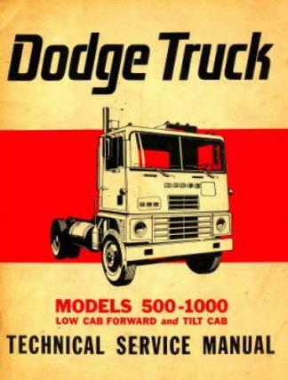 Dodge Trucks 500-1000 Technical Service Manual