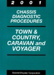 Town and Country Caravan and Voyager Chassis Diagnostic Procedures Manual 2001 Used