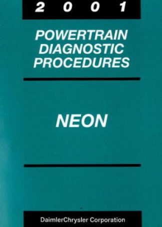 Dodge Neon Powertrain Diagnostic Procedures Manual 2001 Used