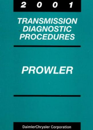 Plymouth Prowler Transmission Diagnostic Procedures 2001 Used