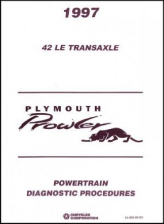 Plymouth Prowler Powertrain Diagnostic Procedures Manual 1997 Used