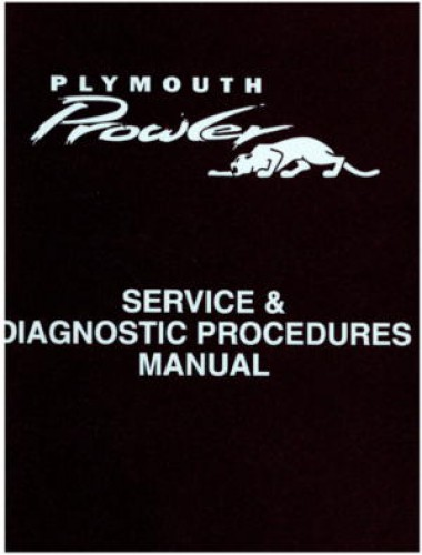 Plymouth Prowler Service and Diagnostic Procedures Manual Binder 1997 1998 Used