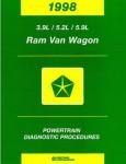 Dodge Ram Van and Wagon Powertrain Diagnostic Procedures Manual 1998 Used