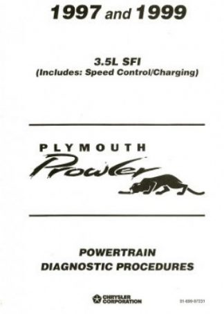 Plymouth Prowler Powertrain Diagnostic Procedures Manual 1997-1999 Used