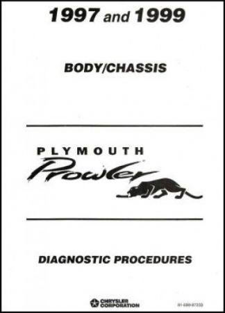 Plymouth Prowler Body Chassis Diagnostic Procedures Manual 1997-1999 Used