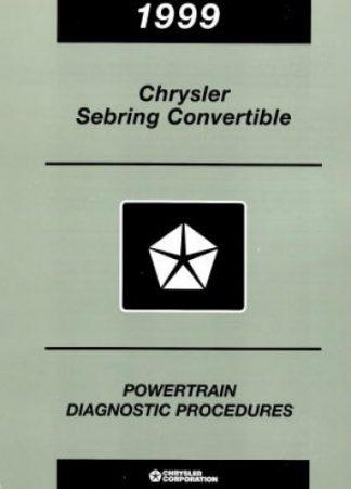 Chrysler Sebring Convertible Powertrain Diagnostic Procedures Manual 1999 Used