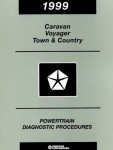 Caravan Voyager and Town and Country Powertrain Diagnostic Procedures Manual 1999 Used