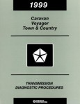 Caravan Voyager Town and Country Transmission Diagnostic Procedures 1999 Used