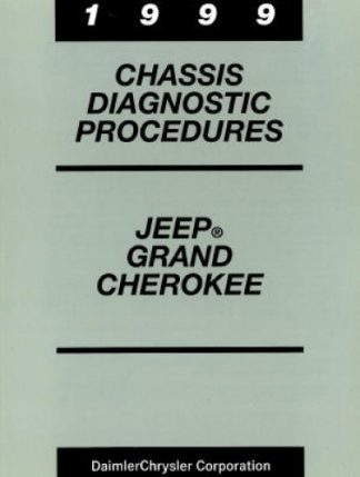 Jeep Grand Cherokee Chassis Diagnostic Procedures Manual 1999 Used
