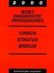 Cirrus Stratus and Breeze Body Diagnostic Procedures Manual 2000 Used