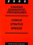 Cirrus Stratus and Breeze Chassis Diagnostic Procedures Manual 2000 Used