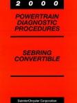 Chrysler Sebring Convertible Powertrain Diagnostic Procedures Manual 2000 Used